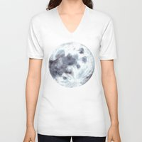 the moon V-neck T-shirts featuring Moon by Bridget Davidson