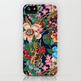 Lizzards and Skulls iPhone Case