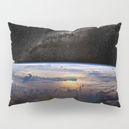Space Station view of Planet Earth & Milky Way Galaxy Pillow Sham