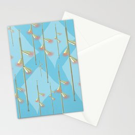 Mid Century Illumination - Gold Blue and Pink Palette Stationery Cards