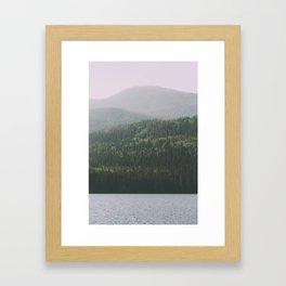 Grande Cache Lake, AB Framed Art Print