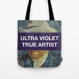 Ultra Violet True Artist Graphic Design Art Tote Bag
