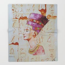 Nefertiti Throw Blanket