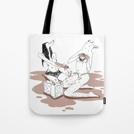 Oil me up before you go go Tote Bag