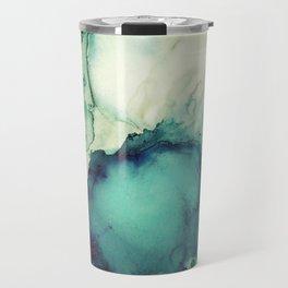 Teal Abstract Travel Mug