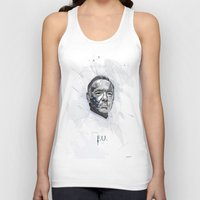 house of cards Tank Tops featuring House of Cards - Frank Underwood by teokon