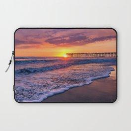 Sunset & Foamy Wave Laptop Sleeve