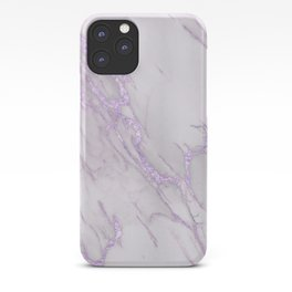 Marble Love Purple Metallic iPhone Case