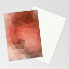 """""""Chocolate mousse"""" geometric design Stationery Cards"""
