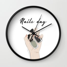 Nails day Wall Clock