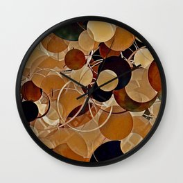 Autumn Bubbles Pattern Wall Clock