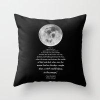 discworld Throw Pillows featuring Moon Bridge Pratchett by GrandeDuc