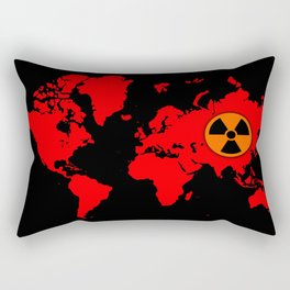 world map with radioactive sign Rectangular Pillow
