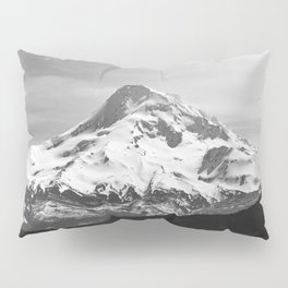 Black and White Mountain Adventure - 85/365 Nature Photography Pillow Sham