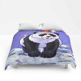 Panda Bear Christmas Comforters