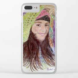 Girl in Hat Clear iPhone Case
