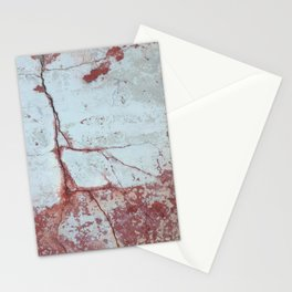 Red and White Concrete Wall Stationery Cards
