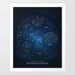 A Long Winter's Night Art Print
