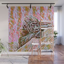ColorMix Gorilla Baby Wall Mural