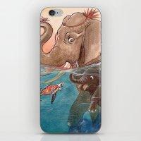 elephants iPhone & iPod Skins featuring Elephants by Paloma  Galzi