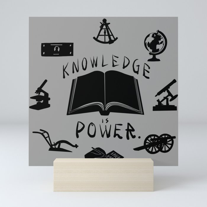 Knowledge is Power Mini Art Print
