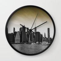 manhattan Wall Clocks featuring Manhattan by Forand Photography