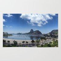 rio de janeiro Area & Throw Rugs featuring Lovely Rio de Janeiro by Michel Lent