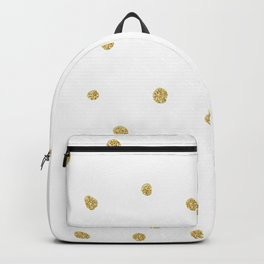 Golden touch I - Gold glitter small polka dots pattern - Confetti Backpack