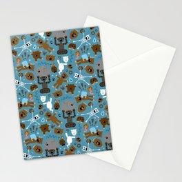 Crazy MonkeyTeddyBears Pattern Stationery Cards