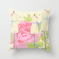 Sewing Room Dress Forms Throw Pillow