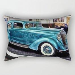 Vintage 1934 Hupmobile Aerodynamic Painting Rectangular Pillow