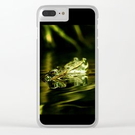 Green Frogs Clear iPhone Case