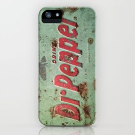 Vintage Rusty Dr Pepper Signage iPhone Case
