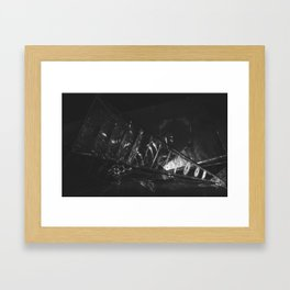The Crash (Black and White) Framed Art Print