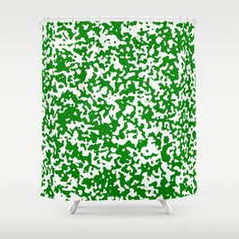 Small Spots - White and Green Shower Curtain