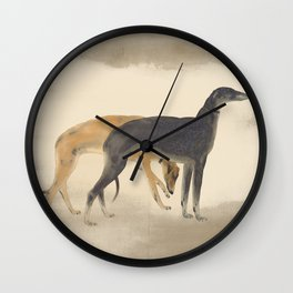 Two Sighthounds Wall Clock