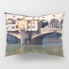 Kayaking Under Ponte Vecchio Pillow Sham