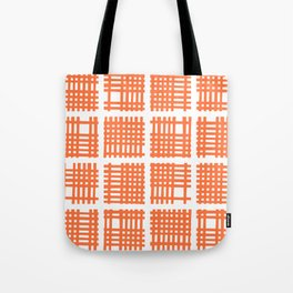 Mid Century Modern Abstract Squares Orange Tote Bag