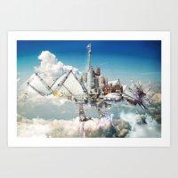 Mechanical Phoenix Art Print