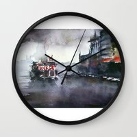 istanbul Wall Clocks featuring ISTANBUL by Baris erdem