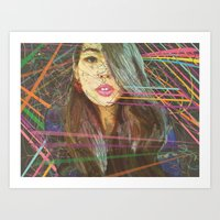 charmaine olivia Art Prints featuring Olivia by Elias Zacarias