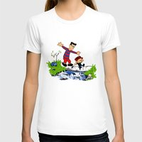 calvin hobbes T-shirts featuring Little Viking and Strong Man ('Calvin and Hobbes' / 'Pete and Pete' parody) by PeterParkerPA