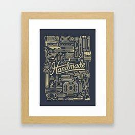 Make Handmade - Navy Framed Art Print