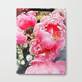 Painted Roses Metal Print