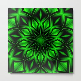 Mandala Green 6 Metal Print