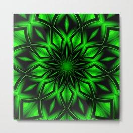 Mandala Green 6 Metal Print