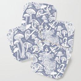 Delicious Autumn botanical poison IV // blue grey background Coaster