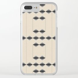 Diamond Stripes Clear iPhone Case