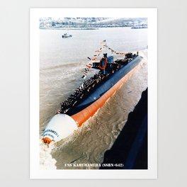 USS KAMEHAMEHA (SSBN-642) Art Print
