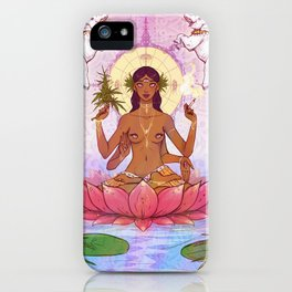 Ganja Goddess iPhone Case